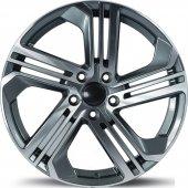 Emr 5586 02 7,5x17 Pcd 5x112 Et45 Dark Grey Polished Jant(4 Adet)