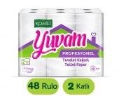 Komili Yuvam Profesyonel Çift Katlı Tuvalet Kağıdı 12x4 48 Rulo