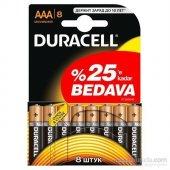 Duracell Alkalin Aaa İnce Kalem Pil 8li Paket