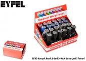 Kırmızı Renk 9 Led 3*aaa Batarya El Feneri