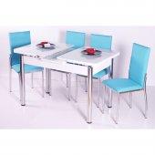 Evform Mutfak Masa Takımı Masa Sandalye Turkuaz
