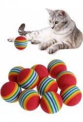 Canaıllou Kedi Oyuncağı Renkli Toplar 3,5 Cm Tekli