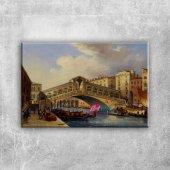 Venedik Balıkçıları, İtalya 3 Dekoratif Modern Kanvas Tablo