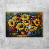 Vazo İçinde Çiçekler Afremov 3 Dekoratif Modern Ka...