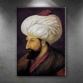 Fatih Sultan Mehmet Portre Osmanlı Tarihi Dekorati...