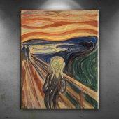 Edvard Munch Çığlık Yağlı Boya Sanat Dekoratif Kan...