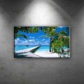 Tropikal Ada 2 Doğa Manzaraları Dekoratif Canvas T...
