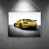 Mercedes 3 Sari Amg Spor Otomobil Dekoratif Canvas...