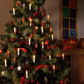 Yılbaşı Ağacı Süsü Aydınlatma Dış Mekan 30lu Christmas Tree Candl