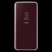 Samsung S9 G960 Clear View Standing Kılıf Altın Ef...