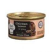 Chefs Choice Gravy Tavuklu Somonlu Tahılsız Kedi Yaş Mama 80 Gr