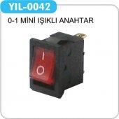 Yıl 0042 Tekli Işıklı Mini Anahtar