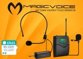 Magıcvoıce Mv 1303y Uhf 1 Yaka + 1 Headset Kablosuz Telsiz Mikrofon
