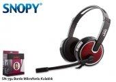 Snopy Sn 791 Bordo Mikrofonlu Kulaklık
