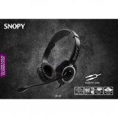 Snopy Sn X4 Siyah Mikrofonlu Kulaklık