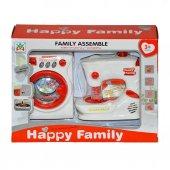 Happy Family Oyuncak Pilli Dikiş Ve Çamaşır Makinesi