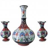 Oğuz Çini Üçlü Vazo Seti