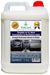 Terlans Parfümlü Torpido Parlatıcı (Parlatma Sütü) 5 Kg + Mikrofiber Bez Hediye