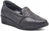 Forelli 9k 25109 Siyah Bayan Ayakkabı Ortopedik