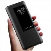 Huawei Mate 20 Pro Kılıf Smart View Uyku Modlu Akıllı Mod Flip Cover Kapaklı