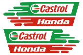 Honda Castrol Sticker