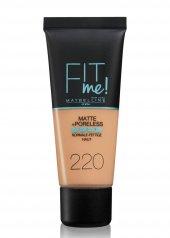 Maybelline Fit Me Matte + Poreless Fondöten 220