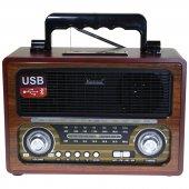 Kemaı Md 1800bt Bluetoothlu Klasik Ahşap Nostalji Görünümlü Radyo
