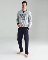 Us Polo 18142 Erkek Yuvarlak Yaka Pijama Takımı