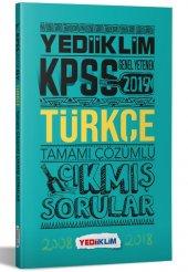 Yediiklim Yayınları 2019 Kpss Genel Yetenek Türkçe Tamamı Çözümlü Çıkmış Sorular