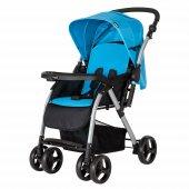 Crystal Baby 298 Maria Çift Yönlü Bebek Arabası Mavi