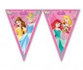 Disney Prensesler Üçgen Bayrak Flama 2.2 Metre Doğum Günü Flaması
