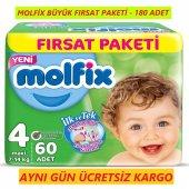 Molfix Bebek Bezi 4 Maxi 7 14kg 3lü Fırsat Paketi 180 Bez