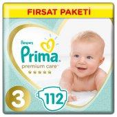 Prima Premium Care 3 Beden 112 Adet Bebek Bezi Kar...