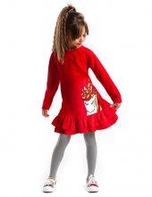 Denokids Yılbaşı Unicorn Kadife Kız Çocuk Elbise
