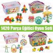 Eğitici Yeni Nesil Zeka Oyuncakları 1420 Prç Minyatür Puzzle+kelebek Puzzle+tiktak Lego+magic Puzzle