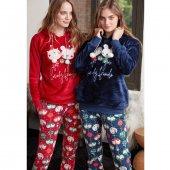 Feyza 3371 Kadın Pijama Takımı Kırmızı