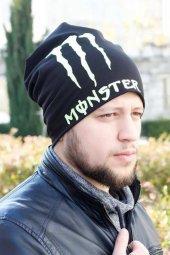 Monster Yazılı Siyah Renk Erkek Bere