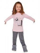 Rolypoly Kız Garson Çocuk Kombin Somon Pijama Takımı 1366