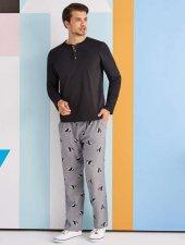 Rolypoly Erkek Kombin Siyah Pijama Takımı 1325