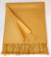 100 Saf İpek Şal A.gold (Ufak Hatalı)