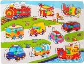 çivili Ahşap Tutmalı Eğitici Araçlar Taşıtlar Yapboz Puzzle Okul Öncesi Eğitici Bultak Puzzle