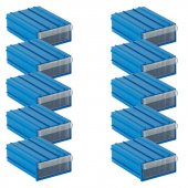 Sembol 102 Plastik Çekmeceli Kutu (10&#039 Lu Paket) 85x122x41 Mm