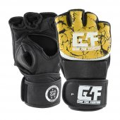 G4f Mma Gloves Leather Yellow (Gf030)