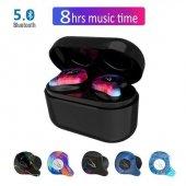 Sabbat X12 Pro Mini 3d Stereo Ses Bluetooth Kulaklık Şarj V5.0 Görünmez Gerçek Kablosuz Su Geçirmez