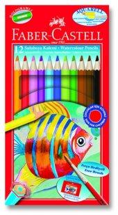 Faber Castell Karton Kutu Aquarel Boya Kalemi 12 Renk