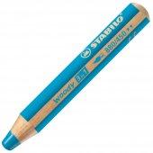 Stabilo Woody 3in1 Pastel Boya Kalemi Açık Mavi