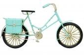 Dekoratif Metal Mavi Bisiklet Çantalı