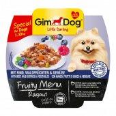Gimdog Fruity Sığır Yaban Mersin Sebzeli Ezme Köpek Konservesi 10