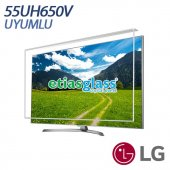 Lg 55uh650v Tv Ekran Koruyucu Ekran Koruma Camı Etiasglass