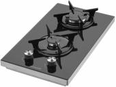 Eminçelik 41 125 E Set Üstü Siyah Cam Domino Ocak